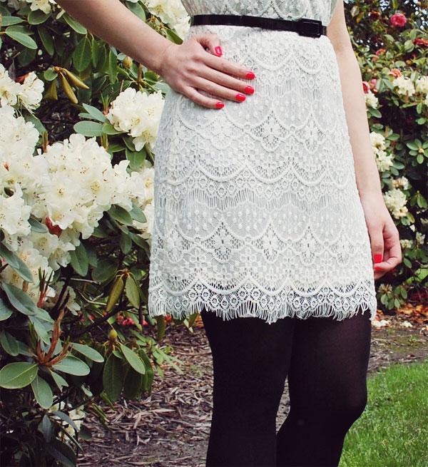 what i wore pinkyotto lace dress