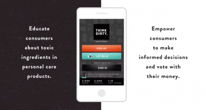 how to get the think dirty app