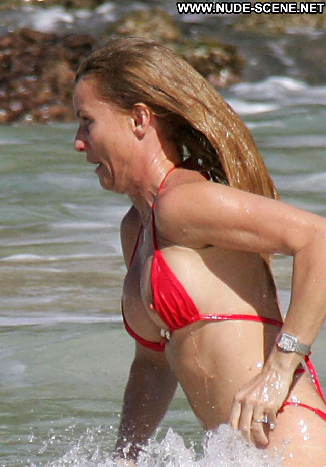 Nicolette Sheridan Nude Sexy Scene Nipple Slip Bikini Blonde