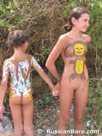 gold body paint nude