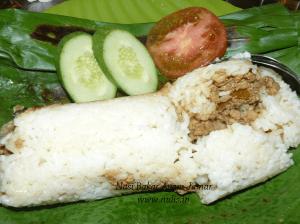 Nasi bakar ayam jamur di Moro