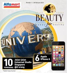 Beauty Fair Alfamart, Menangkan Jalan-Jalan Ke Universal Studio Singapura!