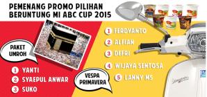 Pemenang Promo Pilihan Beruntung (Paket Umroh & Honda Scoopy)
