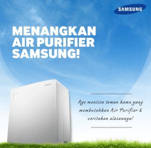 Sharing Mengenai Dampak Polusi, Dapatkan Air Purifier Samsung!