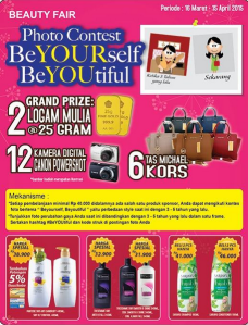 Photo Contest BeYOUrself BeYOUtiful Berhadiah Logam Mulia