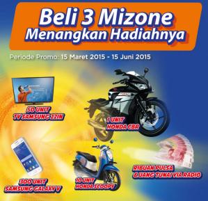 Beli 3 Mizone, Menangkan Honda CBR!
