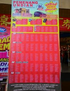 298 Pemenang Undian Hadiah MORO Spesial (Periode 2014)