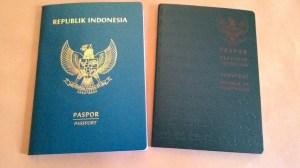 sampul paspor lama dan baru