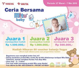 Ceria Bersama MITU Baby, Raih Uang Tunai Jutaan Rupiah & Voucher Belanja
