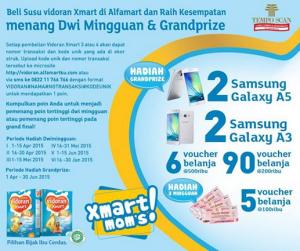Beli Susunya (Vidoran X Smart), Dapatkan Hadiah Gadget & Voucher Belanja
