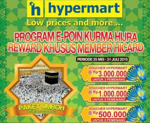 E-Poin Kurma Hijra Berhadiah Paket Umroh & Voucher Belanja Hypermart