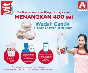 Ceritakan Momenin Ringanin Ajamu, Menangkan 400 Set Flower Shower Hello Kitty
