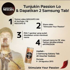 Meme Competition With Nescafe Berhadiah Samsung Galaxy Tab & Voucher Sodexo