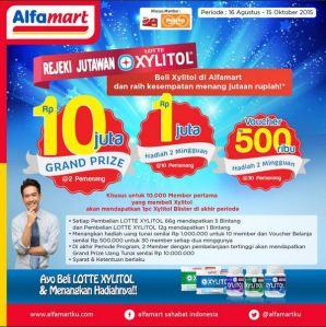 Rejeki Jutawan Lotte  Xilytol : Spesial Untuk Member Alfamart