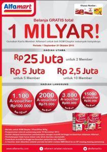 Belanja Gratis Total 1 Milyar Bersama SGM & Alfamart