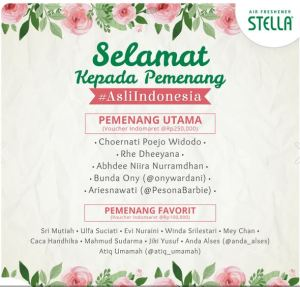 15 Pemenang Stella Asli Indonesia