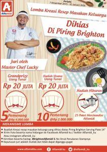 Lomba Kreasi Resep Masakan Keluarga Berhadiah Grand Prize Rp.20 Juta