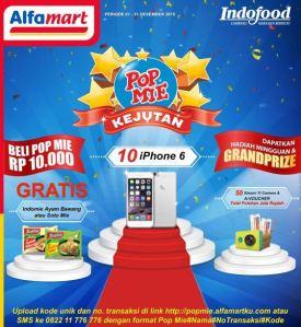 Kejutan Pop Mie Berhadiah IPhone 6