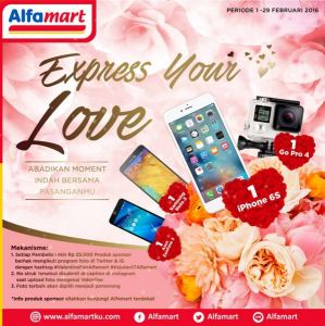 Express Your Love Berhadiah Iphone, Go Pro & Smartphone