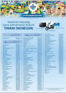 152 Pemenang Aqua Temukan Indonesiamu - Indomaret