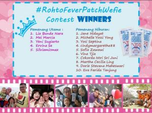 15 Pemenang Rochto Fever Patch Wefie