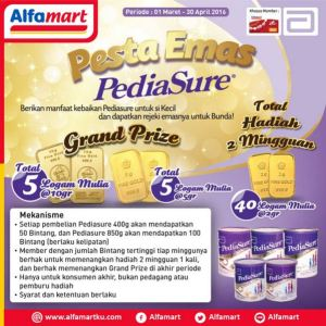 Pesta Emas Pediasure - Alfamart