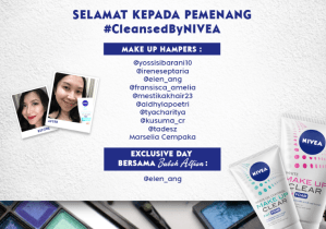 11 Pemenang Cleansed By Nivea (Nivea Make Up Clear)