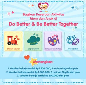 Do Better & Be Better Together, Berhadiah Mainan Lego & Voucher Belanja