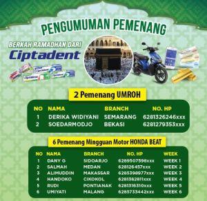 278 Pemenang Berkah Ramadhan Ciptadent