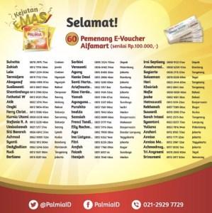 66 Pemenang Kejutan Palmia Alfamart