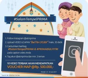 Bikin Video Kreatif, Salam Tempel Prima Berhadiah Voucher MAP