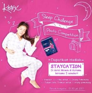 KOTEX SLEEP CHALLENGE BERHADIAH STAYCATION DIHOTEL MEWAH KOTAMU