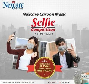 Selfie Nexcare Carbon Mask Berhadiah 50 Paket Masker