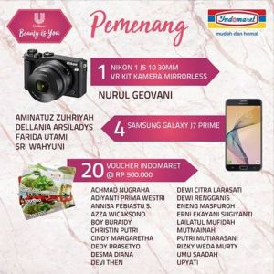 25 Pemenang Beauty Is You Indomaret