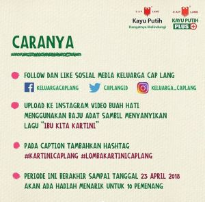 Kartini Cap Lang Berhadiah Smartphone & Uang Tunai