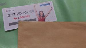 Voucher I Lotte 1 Juta Hadiah Kontes Semangat Gemilang Indomilk