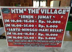 Berapa  HTM The Village Purwokerto, Apa Saja Aturannya?