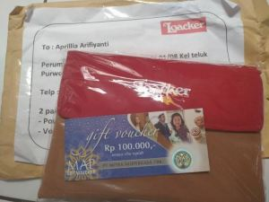Pouch & Voucher MAP 100K Hadiah Loacker Share The Goodness