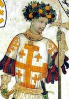 Godefrey of Bouillon, pictured in a fresco fro...