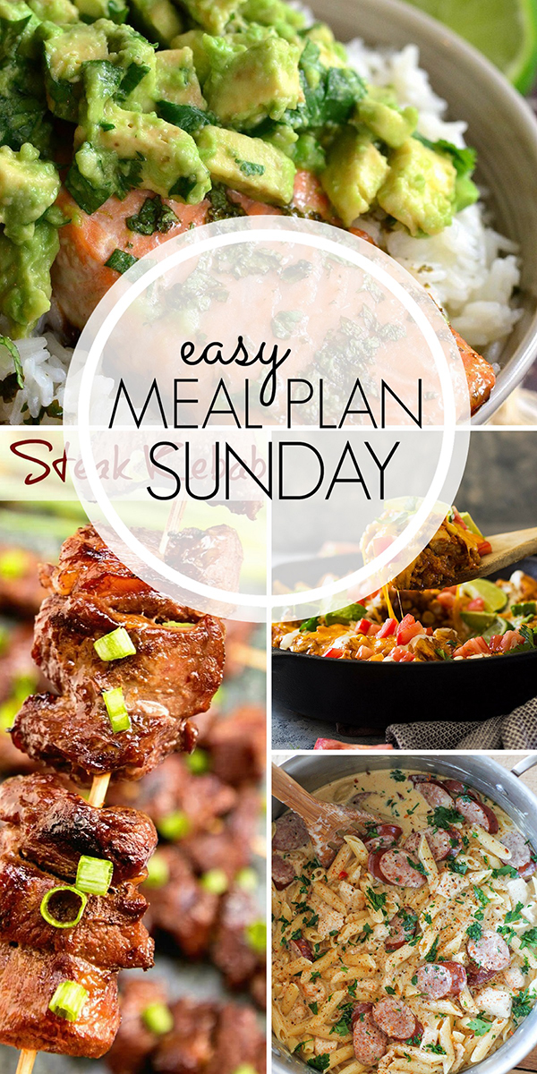 Easy Meal Plan Menu - Week Two - No 2 Pencil - how to plan weekly meals for two