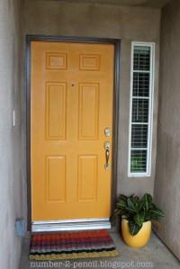 Spray Paint the Front Door! - No. 2 Pencil