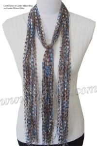 Free Pattern: Ribbon Yarn Scarves