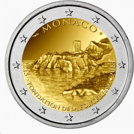 2€ Monaco 2015 - 800 Años de la Fortaleza de Mónaco Mon15