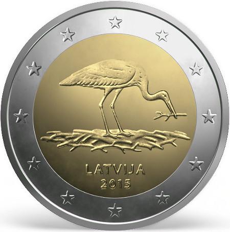 Letonia 2€ cc 2015 – La Cigüeña Negra Ci1