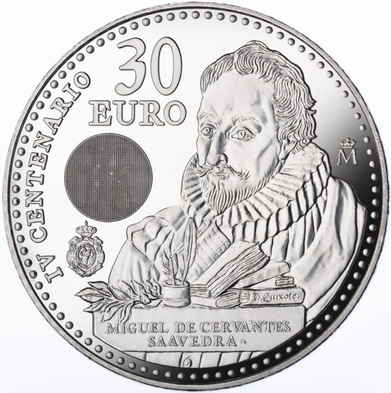 moneda de 30 euros espa a 2016 miguel de cervantes el rinc n del uro y la numism tica. Black Bedroom Furniture Sets. Home Design Ideas