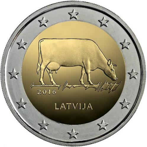 Moneda de 2 euros conmemorativa Letonia 2016 Vaccc