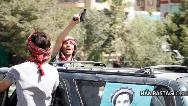 Sep.8, 2016 - Kabul, Afghanistan: On 15th death anniversary of Ahmad Shah Massoud, streets of Kabul were occupied by gunmen and bandits of Shura-e-Nezar causing fear among people.