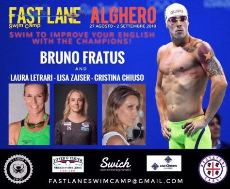 Swim Camp Fast Lane Alghero 2018 - Locandina