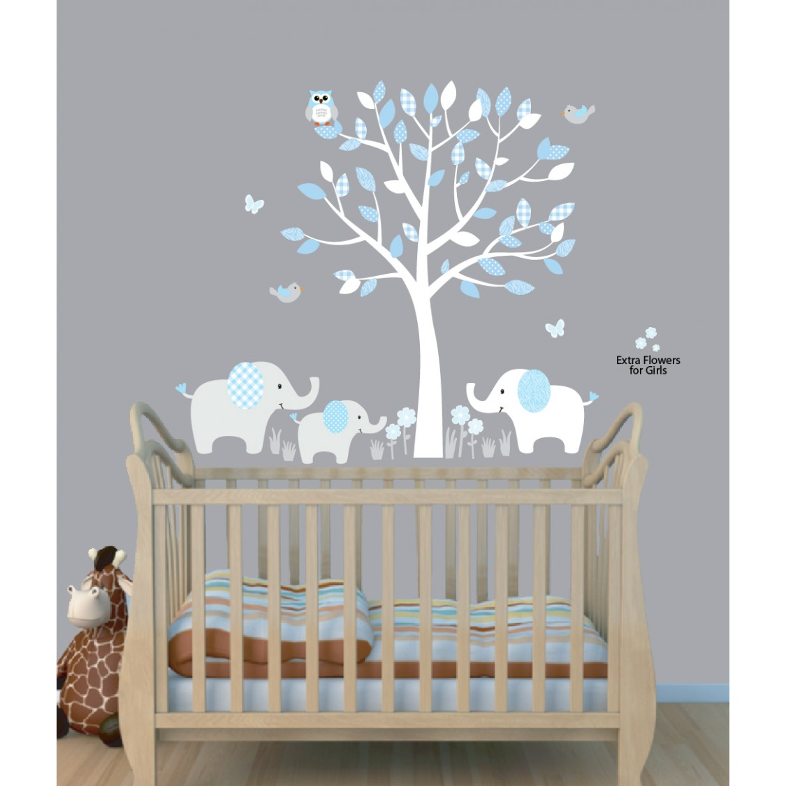 Famed Blue Nursery Jungle Wall Decals Nursery Nursery Wall Decals Nz Nursery Wall Decals Jungle Animals Boys Rooms Baby Blue Tree Wall Decals Elephant Stickers Elephant Wall Decal baby Nursery Wall Decals