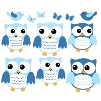 Owl Wall Decals for Nursery and Baby Rooms